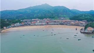 苍南炎亭沙滩 还有从小就好奇的对面小...